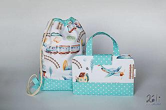 Detské tašky - Set pre škôlkara -pastelkovník a batoh Vláčiky a lietadlá - 13219365_