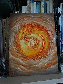 Obrazy - Ohnivý drak - Slnko - 13219943_