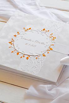 Papiernictvo - Svadobná kniha hostí - 13221859_