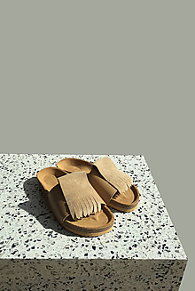 Obuv - Korkáče Sand velur - 13220223_