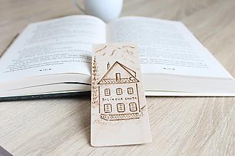 """Papiernictvo - Malá drevená záložka """"Bilíkova chata"""" - 13221109_"""