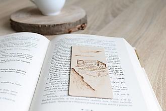 """Papiernictvo - Malá drevená záložka """"Sliezsky dom"""" - 13221129_"""