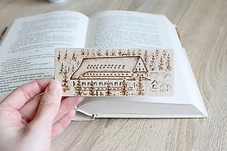 """Papiernictvo - Malá drevená záložka """"Horský hotel Popradské pleso"""" - 13221163_"""