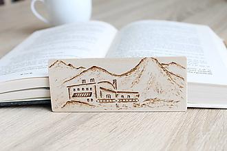 """Papiernictvo - Malá drevená záložka """"Téryho chata"""" - 13221238_"""
