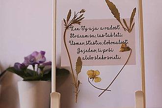 Obrazy - Obrázok s fialkou a citátom pre vašu lásku - 13220838_