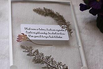 Obrázky - Obraz z lásky Lisované kvety a citát - 13220888_