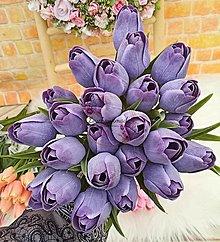 Dekorácie - Tulipán  purpurový 38cm - 13221966_