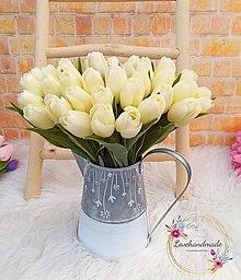 Dekorácie - Tulipán  smotanový 38cm - 13221969_