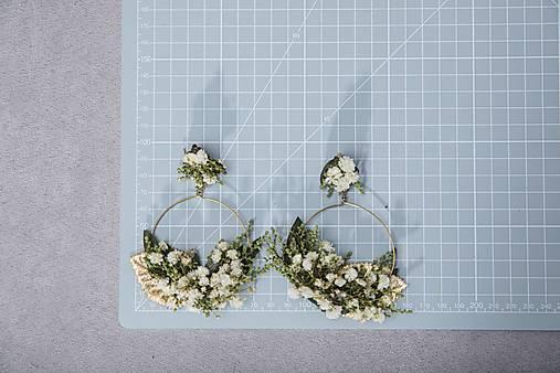 "Kvetinové kruhové náušnice ""dotyk rána"""