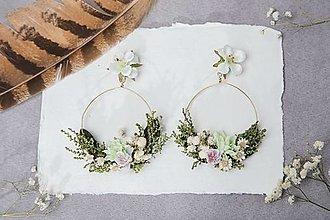 """Náušnice - Kvetinové kruhové náušnice """"jarný vánok"""" - 13219933_"""