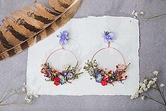 """Náušnice - Kvetinové kruhové náušnice """"letná romanca"""" - 13219962_"""