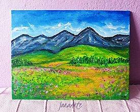 Obrazy - Lúky pod Tatrami obraz - 13220049_
