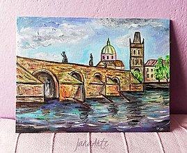 Obrazy - Karlov most olejomaľba obraz - 13220184_