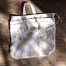 """Iné tašky - taška z ručne tkaného ľanového plátna """"hubárska""""  (taška z ručne tkaného ľanového plátna """"hubárska"""" I) - 13223141_"""