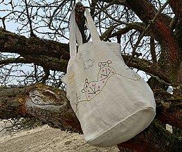 """Iné tašky - taška z ručne tkaného ľanového plátna """"hubárska""""  (taška z ručne tkaného ľanového plátna """"hubárska"""" II) - 13223158_"""