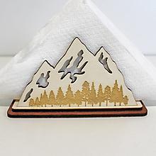 Pomôcky - Stojan na servítky Hory, Drevená dekorácia na stôl, drevený darček - 13220467_
