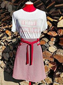Sukne - Áčková sukňa s viazačkou - 13220559_