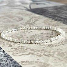 Náramky - Elastic Moonstone Bracelet AG925 / Elastický náramok mesačný kameň, striebro - 13223848_