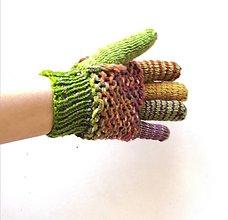 Rukavice - Rukavice prstové ombré - 13224796_