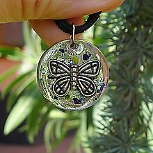 Náhrdelníky - Motýlik do zbierky - 13225275_