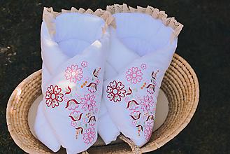 Textil - Rozkvitnuté zavinovačky - 13224929_