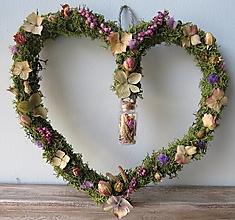 """Dekorácie - Kvetinové srdce """"Floriana"""" - 13224042_"""