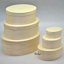 Polotovary - Sada 3 oválnych krabičiek - menšie - 13225519_