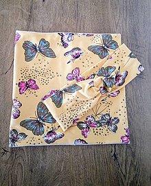 Šály - Motýle  čelenka/nákrčník alebo set - 13225170_