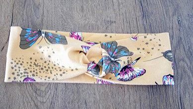 Ozdoby do vlasov - Úpletová čelenka motýle - 13225202_