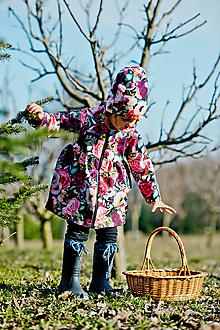 Detské oblečenie - jarný kabátik kvet POSLEDNÝ 92 - 13225867_