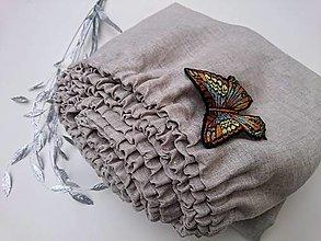 Úžitkový textil - Napínacia plachta 100% ľan - 13225443_