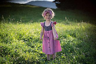 Detské oblečenie - Dievčenské šaty s háčkovaným živôtikom (Magnólia) - 13226239_