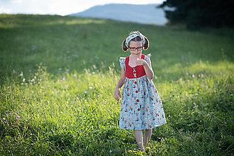 Detské oblečenie - Dievčenské šaty s háčkovaným živôtikom (Snehulienka) - 13226247_