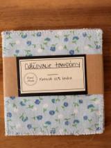 Úžitkový textil - Odličovacie tampóny - modrý kvet/káro - 13223777_