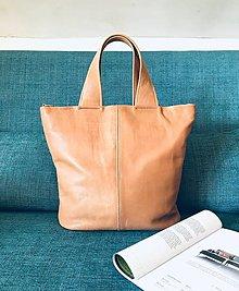 """Kabelky - SARA """"Simple"""" svetlohnedá kožená kabelka - 13225803_"""