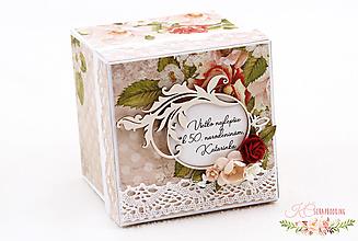 Papiernictvo - Darčeková krabička k narodeninám IV - 13229155_