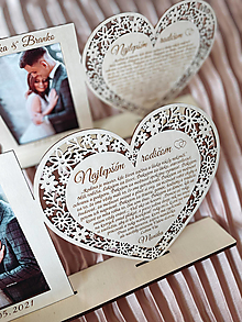 Darčeky pre svadobčanov - Vintage čipkové Poďakovanie rodičom s fotorámikom 75 - 13227112_