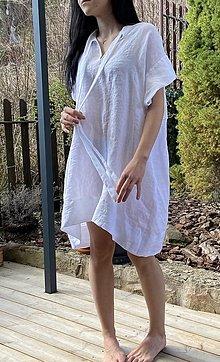Šaty - letné ľanové šaty - 13228293_