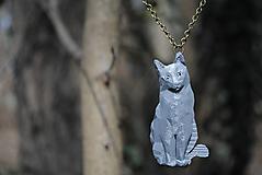 Náhrdelníky - Mačka sivá prívesok - 13229203_
