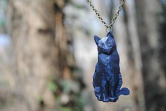 Náhrdelníky - Mačka metalická prívesok - 13229101_
