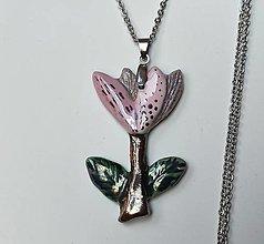 Náhrdelníky - Keramický šperk - Kvietok - 13227063_