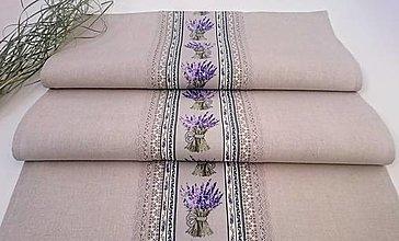 Úžitkový textil - Štóla - behúň levanduľa - 13227486_