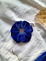 Ozdoby do vlasov - Scrunchie modrá  - 13227051_