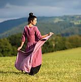 Šatky - Lněný šátek Mauve - 13227078_