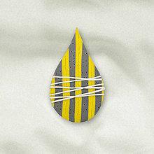 Odznaky/Brošne - Kvapka umenia brošňa - pásiky - 13228707_