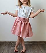 """Detské oblečenie - Detská sukňa """"RUŽOVÝ VÁNOK"""" - so zlatou potlačou púpav - 13230818_"""