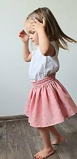 """Detské oblečenie - Detská sukňa """"RUŽOVÝ VÁNOK"""" - so zlatou potlačou púpav - 13230820_"""