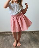 """Detské oblečenie - Detská sukňa """"RUŽOVÝ VÁNOK"""" - so zlatou potlačou púpav - 13230821_"""