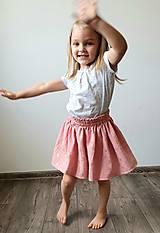 """Detské oblečenie - Detská sukňa """"RUŽOVÝ VÁNOK"""" - so zlatou potlačou púpav - 13230822_"""