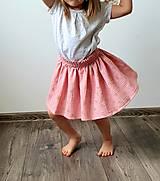 """Detské oblečenie - Detská sukňa """"RUŽOVÝ VÁNOK"""" - so zlatou potlačou púpav - 13230823_"""